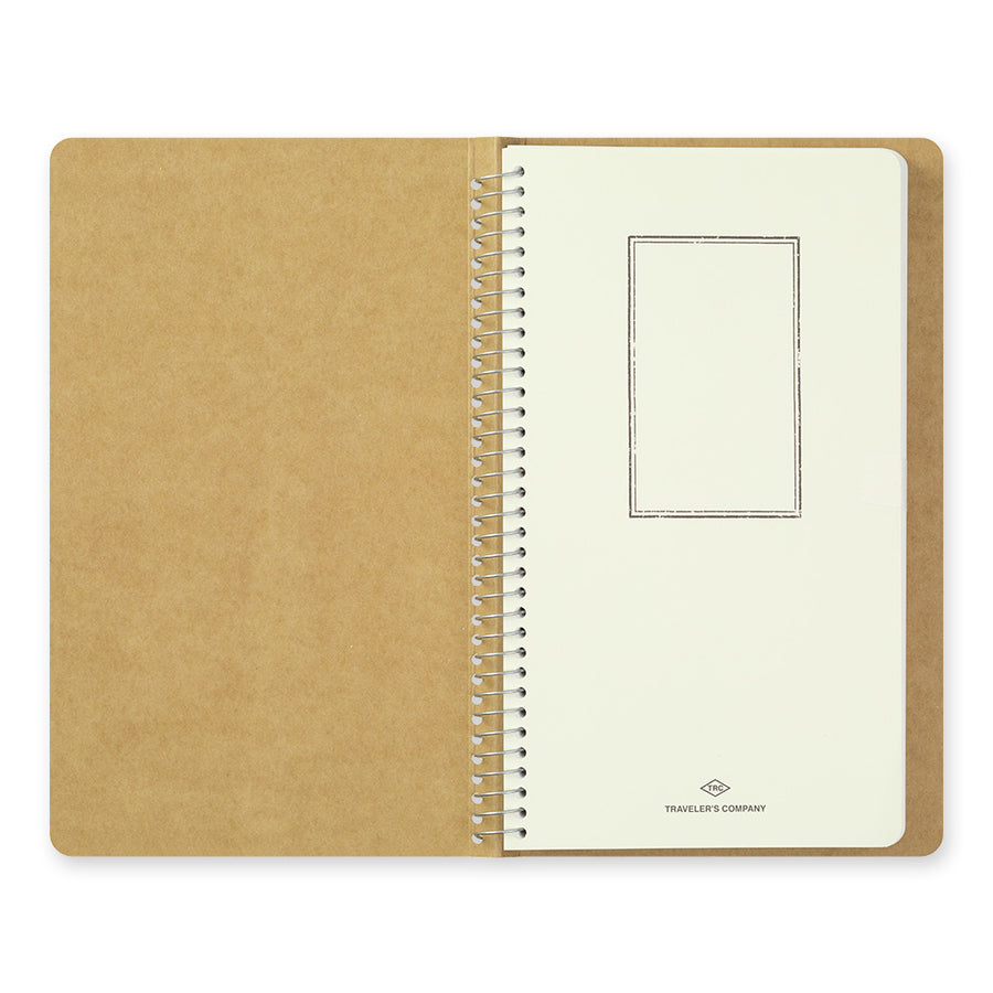 Midori Traveler's Company TRC Spiral Ring Notebook - A5 Slim - Blank White