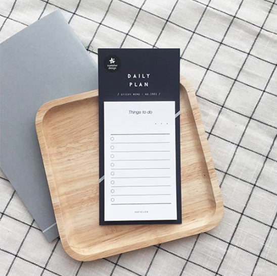 Suatelier Sticky Notes - 1901 Daily Plan 01