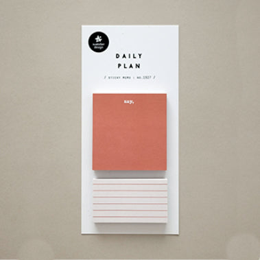 Suatelier Sticky Notes - 1927 Daily Plan 21