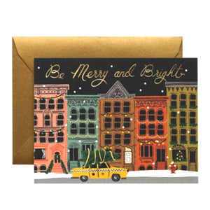 Rifle Paper Co. Greeting Card - Merry and Bright Card