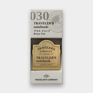 Traveler's Notebook Refill 030 - Accessories - Brass Clip TRC Logo Pattern