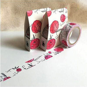 Hoppy Washi Tape Forest Series - Bulbous 1 Plum Red