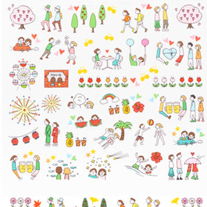 Midori Planner Sticker - 2460 Season Dating