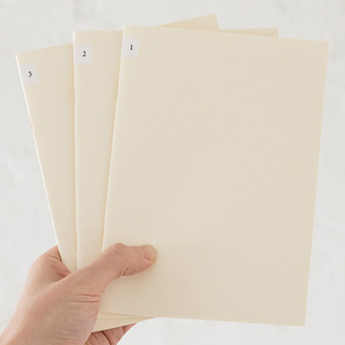 Midori MD Notebook Light - A5 Blank - 3 Book Set