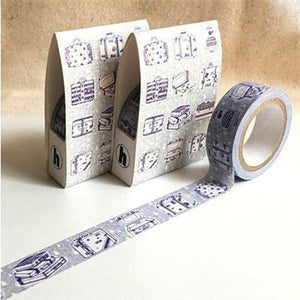 Hoppy Life Series Washi Tape - 4713077970577 Suitcase 2