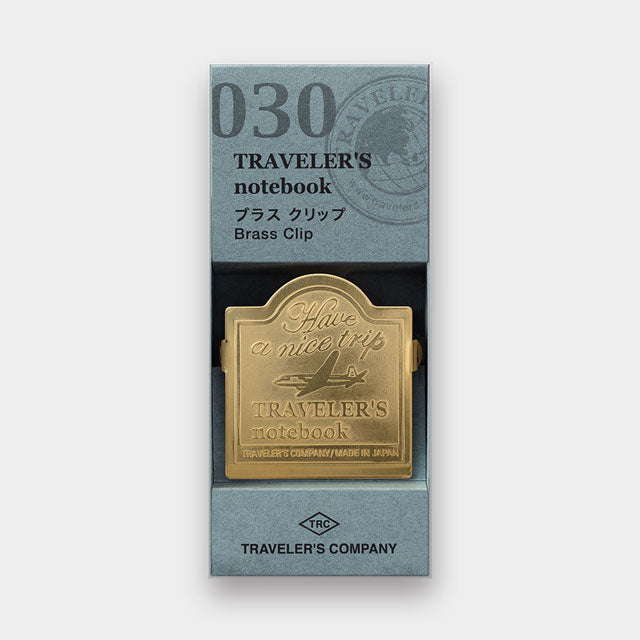 Traveler's Notebook Refill 030 - Accessories - Brass Clip Airplane Pattern