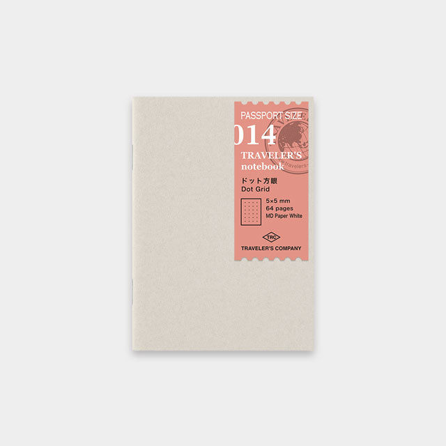 Traveler's Note Passport Size Refill Dot Grid Square