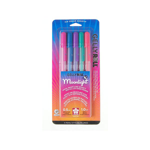Sakura Gelly Roll Moonlight Gel Pen 0.6 mm - 5 Color Set - Dusk