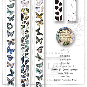 Lin Chia Ning Butterfly Green to Purple Matte PET Tape