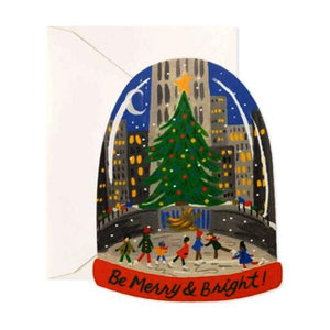 Rifle Paper Co. Boxed Greeting Card Set of 8 - Skating in the City