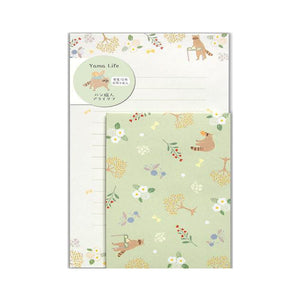 Yama Life Letter Writing Set - Raccoon