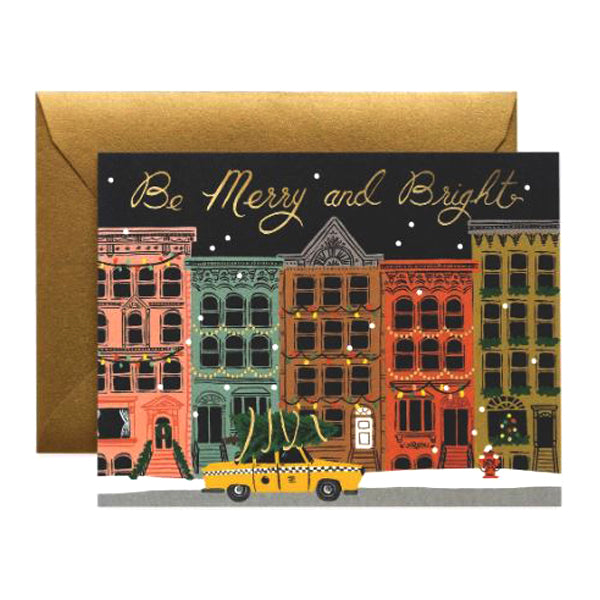 Rifle Paper Co. Boxed Greeting Card Set of 8 - City Holiday