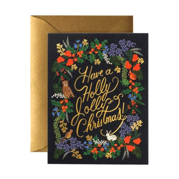 Rifle Paper Co. Greeting Card - Holly Jolly Christmas card