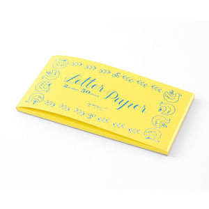 Midori Message Letter Pad - Bird Print Yellow