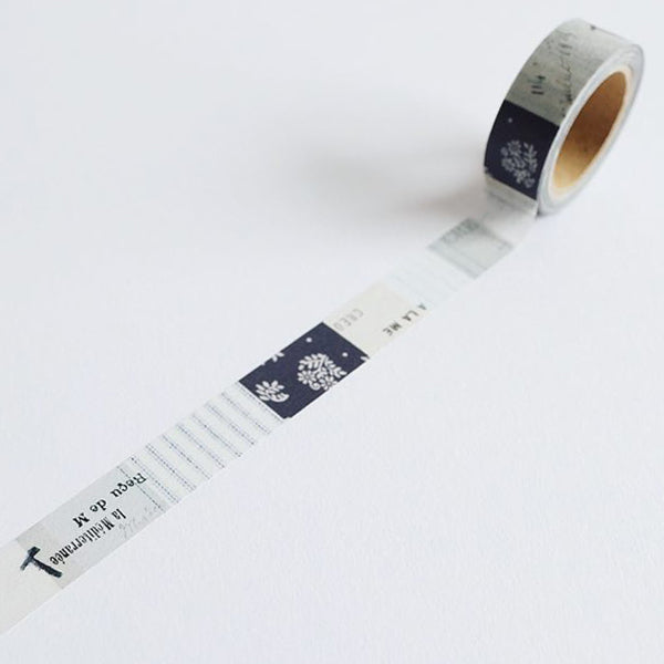 "Yohaku Washi Tape - YC-003 CHECK & STRIPE / Yohaku ""Winter Gift 2020"" Fuyujitaku"