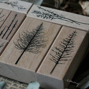Pre Order: Lin Chia Ning Rubber Stamps Set -  Forest Rubber Stamps Vol. 3