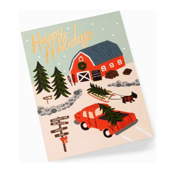 Rifle Paper Co. Greeting Card - Holiday Tree Farm Card