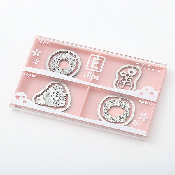 Midori Etching Clip E Clips - Floral Pattern