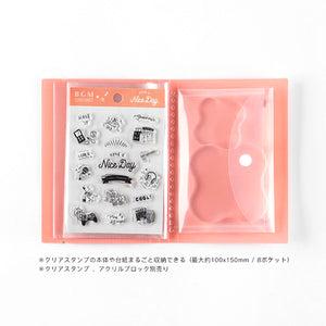 BGM Clear Stamp File - Pink