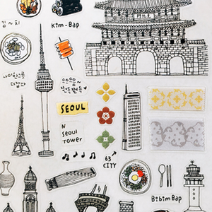 Suatelier Stickers - 1062 Beauty of Korea