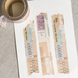 Sunny Sunday Washi Tape - Beige Collage