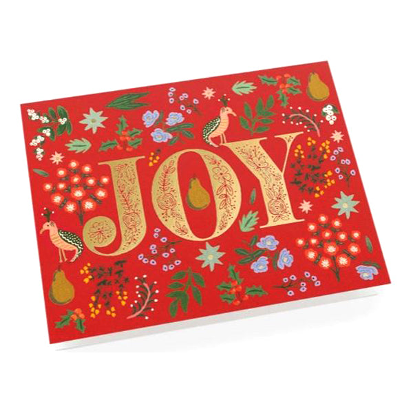 Rifle Paper Co. Boxed Greeting Card Set of 8 - Joy Partridge