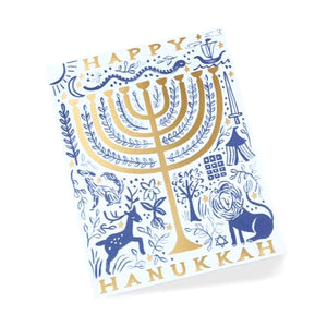 Rifle Paper Co. Greeting Card - Twelve Tribes Menorah Card
