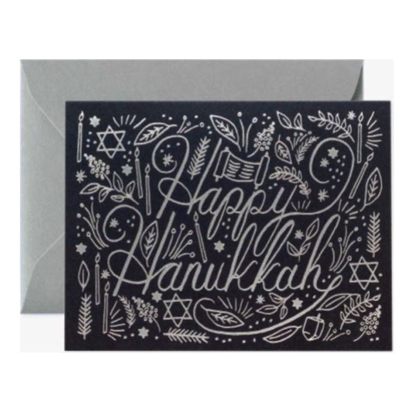 Rifle Paper Co. Greeting Card - Happy Hanukkah Silver