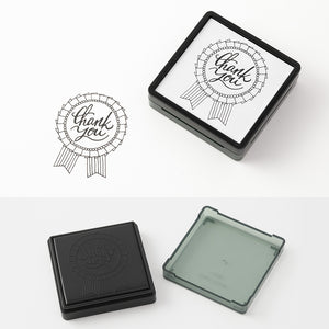 Midori Pre-Inked Paintable Stamp - Thank You Rosette