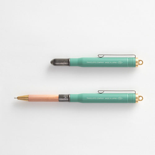 Traveler's Company [LIMITED EDITION] TRC BRASS Ballpoint Pen Factory Green - Traveler's Notebook