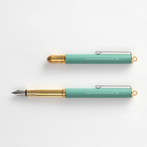 Traveler's Company [LIMITED EDITION] TRC BRASS Fountain Pen Factory Green - Traveler's Notebook