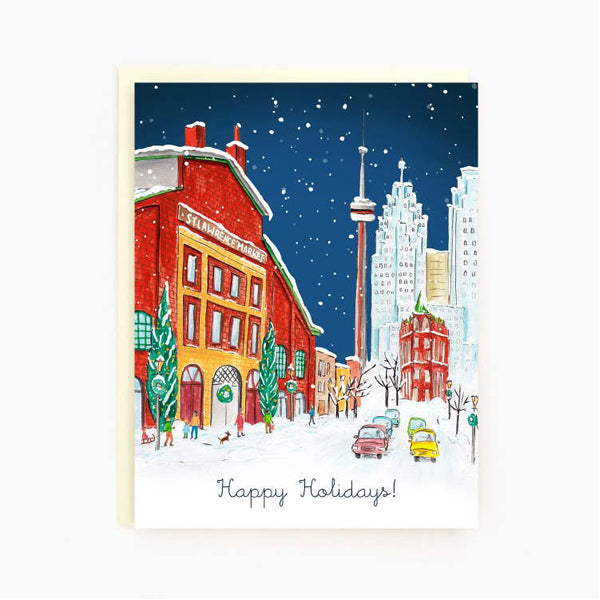 Made In Brockton Village Greeting Card - Toronto St Lawrence Market Holiday Card