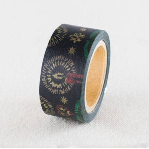 Sunny Sunday Washi Tape - Christmas Embroidery Navy