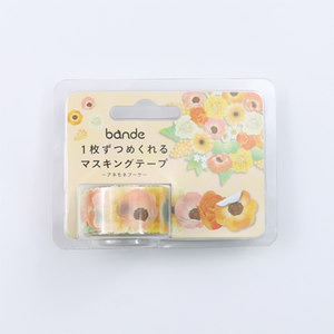 BANDE Anemones Bouquet  BDA 271 Washi Paper Sticker Roll