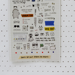 Suatelier Stickers - 1057 Travel Note