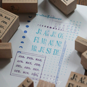 Pre Order: Lin Chia Ning Rubber Stamps Set -  Odds and Ends Rubber Stamps Vol. 1