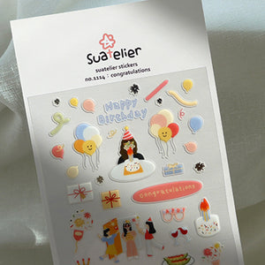 Suatelier Stickers - 1114 Congratulations