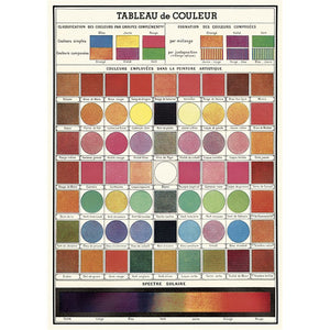 Cavallini Poster Wrap - Color Chart