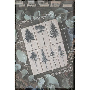 Lin Chia Ning Rubber Stamps Set -  Forest Rubber Stamps Vol. 1