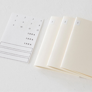 Midori MD Notebook Light - A5 Grid - 3 Book Set