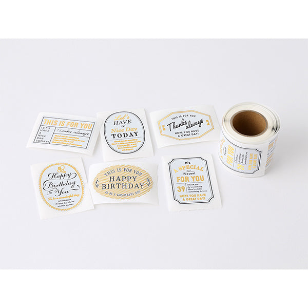 Midori Sticker Roll Seal - Metallic Labels