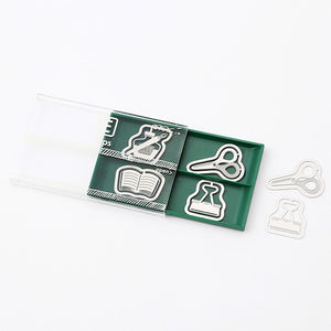 Midori Etching Clip E Clips - Stationery Pattern