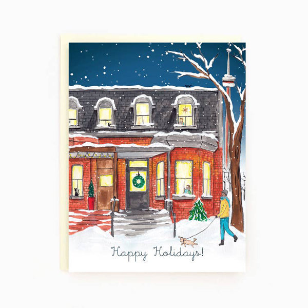 Made In Brockton Village Greeting Card - Toronto Draper Street Holiday Card