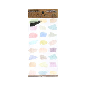 Japanese Masking Seal - Abstract Schedule Sticker - Watercolor