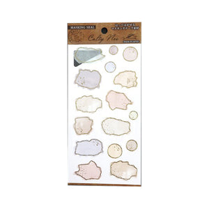 Japanese Masking Seal - Abstract Schedule Sticker - Outlined Shapes