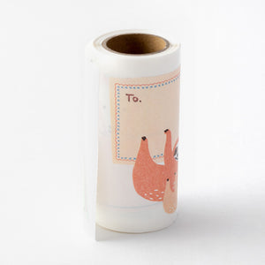 Midori Sticker Roll Seal LARGE - Animal Message