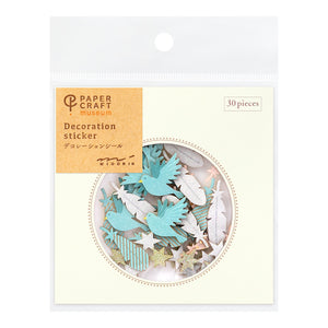 Midori Paper Craft Museum Stickers - Decoration Wing