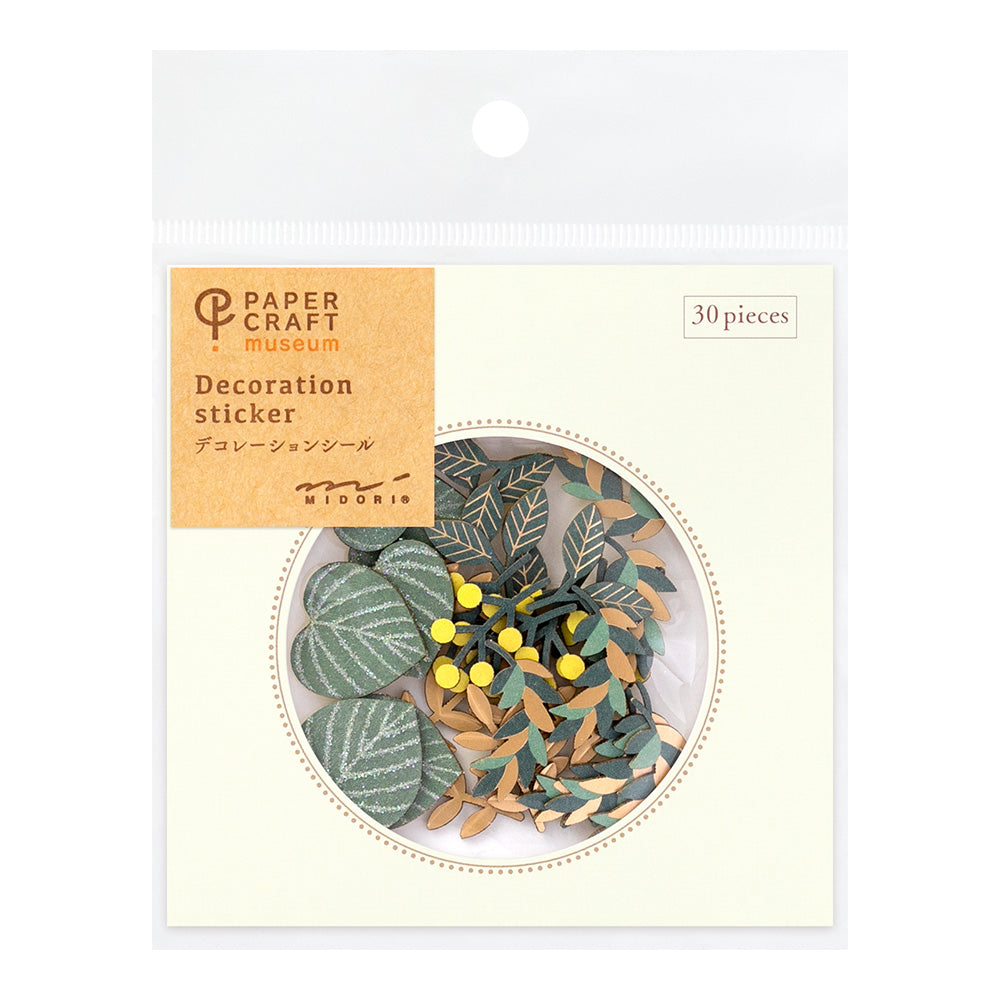 Midori Paper Craft Museum Stickers - Decoration Leaf