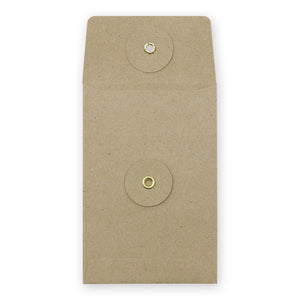 Midori Kraft Envelope Vertical with String S - Brown