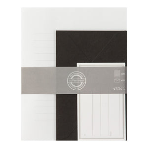 Midori Letter Writing Set - White and Black